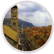 Dubrovnik - Old City Round Beach Towel