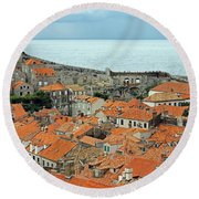 Dubrovnik Rooftops And Walls Round Beach Towel