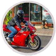 Ducati 748 Round Beach Towel