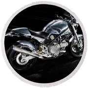 Ducati Monster Cafe Racer Round Beach Towel