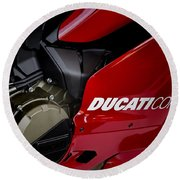Ducati-unplugged V9 Round Beach Towel