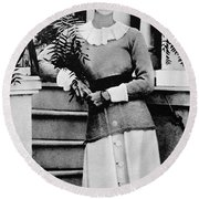 Duchess Of Windsor (1896-1986) Round Beach Towel