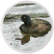 Duck Day Afternoon Round Beach Towel