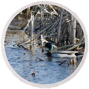 Duck Paddle Round Beach Towel