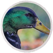 Duck Personality Round Beach Towel
