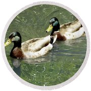Ducks Round Beach Towel