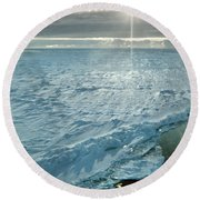 Due South 1.30am Ross Sea Round Beach Towel
