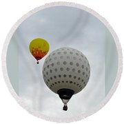 Dueling Balloons 2 Round Beach Towel