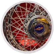Duesenberg Wheel Round Beach Towel