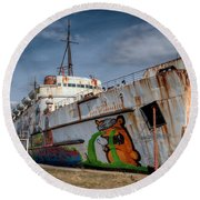 Duke Of Graffiti Round Beach Towel