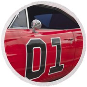 Dukes Of Hazard General Lee Round Beach Towel