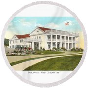 Duluth Minnesota - Northland Country Club - 1915 Round Beach Towel