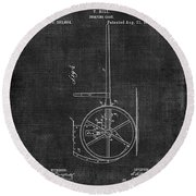 Dumping Cart Patent 011 Round Beach Towel