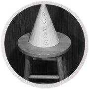 Dunce Hat Round Beach Towel