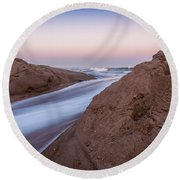 Dune Break Round Beach Towel