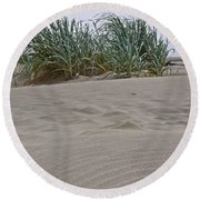 Dune Grass On Beach Dune Landscape Art Prints Round Beach Towel