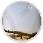 Dune Grasses Round Beach Towel