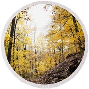 Dune Land Forest Round Beach Towel