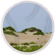 Dunes And Grasses 7 Round Beach Towel