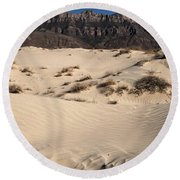 Dunes At The Guadalupes Round Beach Towel