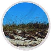 Dunes Of Turks Round Beach Towel