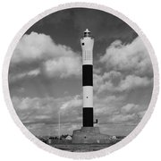 Dungeness Lighthouse Round Beach Towel