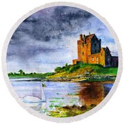 Dunguaire Castle Ireland Round Beach Towel