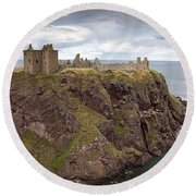 Dunnottar Castle Round Beach Towel