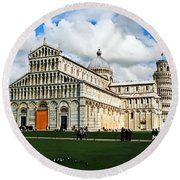 Duomo Of Field Of Dreams Round Beach Towel