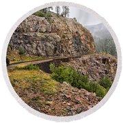 Durango Train To Silverton Dsc07599 Round Beach Towel