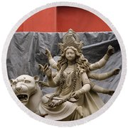 Durga In Kumartuli Round Beach Towel