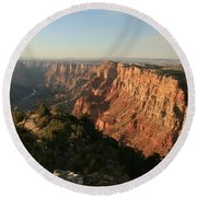 Dusk At The Canyon Round Beach Towel