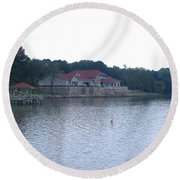Dusk Lake D Round Beach Towel