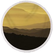 Dusk Over The Spanish Hills Of Andalusia Round Beach Towel