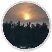 Dusky Sunset Round Beach Towel