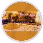 Dust Bowl Round Beach Towel