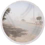 Dust Storm Round Beach Towel