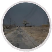 Dust Storm, Lovelock, Nevada Round Beach Towel