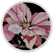 Dustie's Poinsettia Round Beach Towel