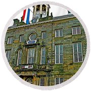 Dutch Architecture Of The Golden Age For Town Hall In Enkhuizen- Round Beach Towel