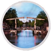 Dutch Bridge Round Beach Towel