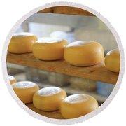 Dutch Cheese Round Beach Towel