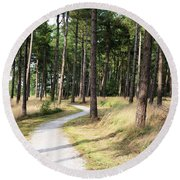 Dutch Country Bicycle Path Round Beach Towel