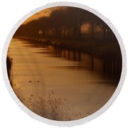 Dutch Landscape Round Beach Towel