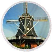 Dutch Windmill Round Beach Towel