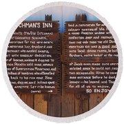 Dutchman's Inn Round Beach Towel