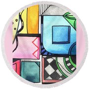 Dwelling In The Square Round Beach Towel