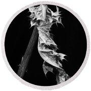 Dying Leaf Round Beach Towel