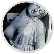 Dying Lucretia  Round Beach Towel