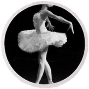 Dying Swan I. Round Beach Towel
